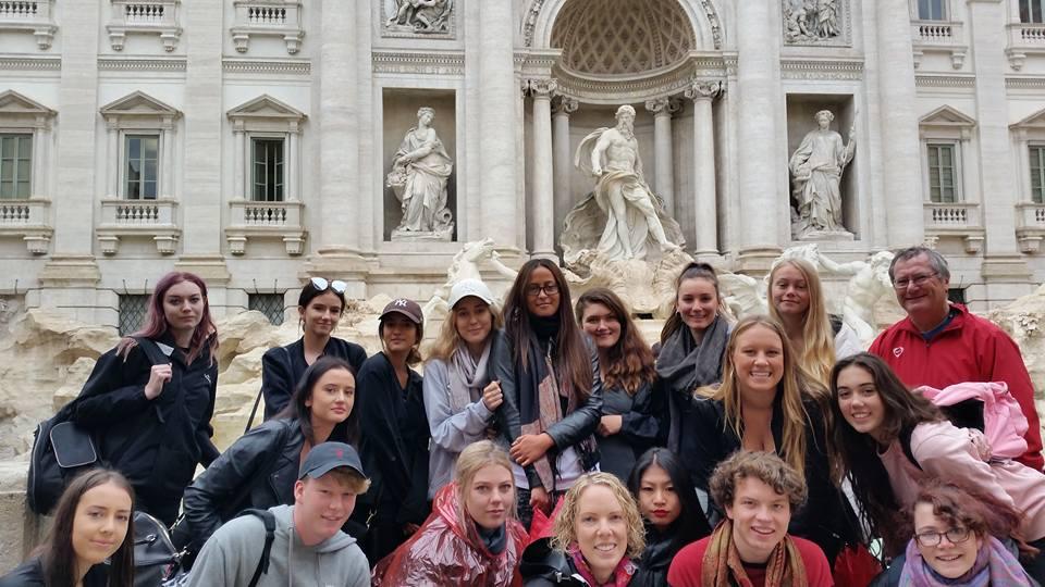Group Trevi Fountain, Rome