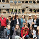 Group at Colosseum, Rome