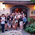 Group at dinner, Pompeii